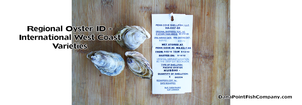 Oyster List – Pacific Canada, Mexico, New Zealand, Japan