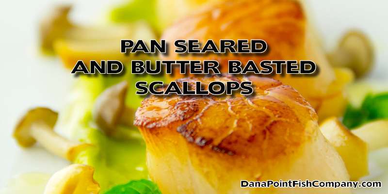 Pan Seared and Butter Basted Scallops