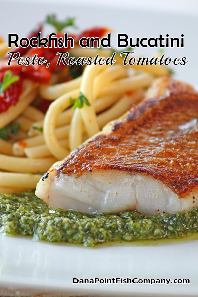 Dana Point Fish Company | Rockfish and Bucatini Pasta