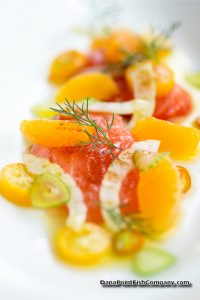 Salmon Crudo with Orange and Fennel